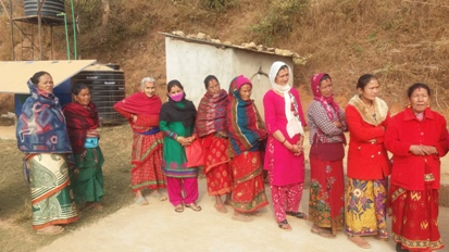 POP kamp in Dhading